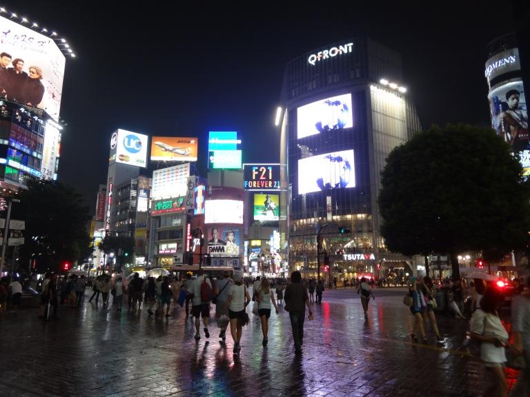 A Shimmering Shibuya Square