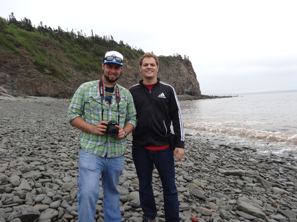 Andrew and I at Fundy National Park, New Brunswick, Canada, ca. 2013.